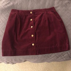 Old Navy Maroon Corduroy Skirt